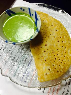 Dosa with Chutney